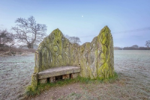 The carved seat