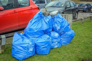 seventeen sacks of rubbish