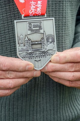 The front of Frank's beautiful medal...