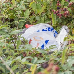 ... a large carrier bag full of their rubbish...