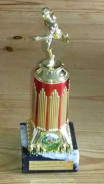 Frank's trophy - parkrunner of the year 2018.