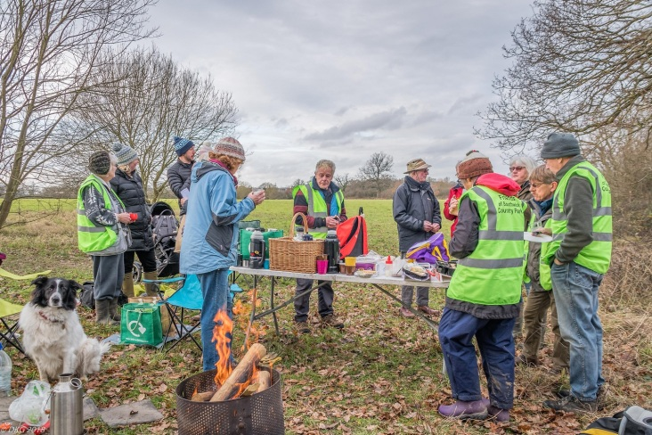 a chit-chat around a welcome log fire
