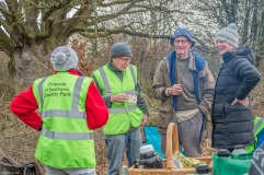 We were also joined by Vicky (Wiltshire Countryside Team). . .